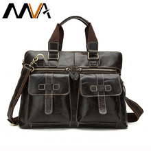 MVA Genuine Leather Men Handbags High Quality Casual Business Briefcase Men's Messenger Bags Business Man Travel Shoulder Bag