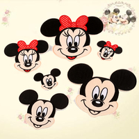 Pulaqi 50/pack Cartoon Mickey Minnie Patch Badge Iron On Patches For Clothing Sewing Embroidery Patches For Kids Cute Clothes F