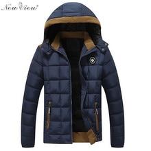 2017 Winter Jacket Men Thick Warm Velvet Cotton Padded Coat Mens Casual Removable Hoodies Overcoat Parka Jaqueta Masculina