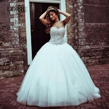 2017 New Arrival Off The Shoulder Wedding Dress Plus Size Sweetheart Crystals Beaded Tulle Bridal Gowns Floor Length Lace Up