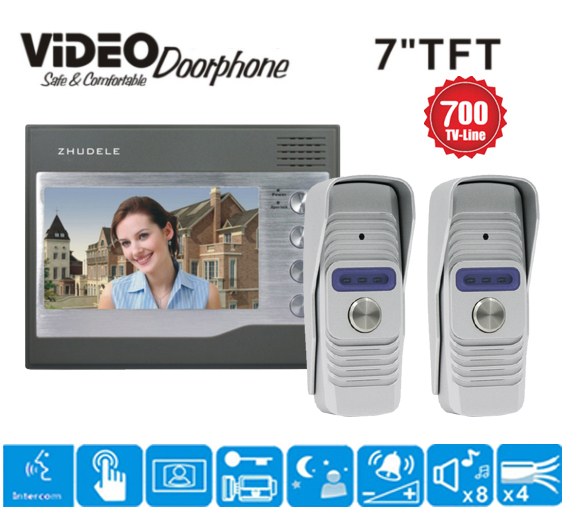 Sicherheit & Schutz Verantwortlich Zhudele Top Qualität 6-apartments Sprechanlage Home Security Audio-türsprechanlage Kits 008a Innengerät