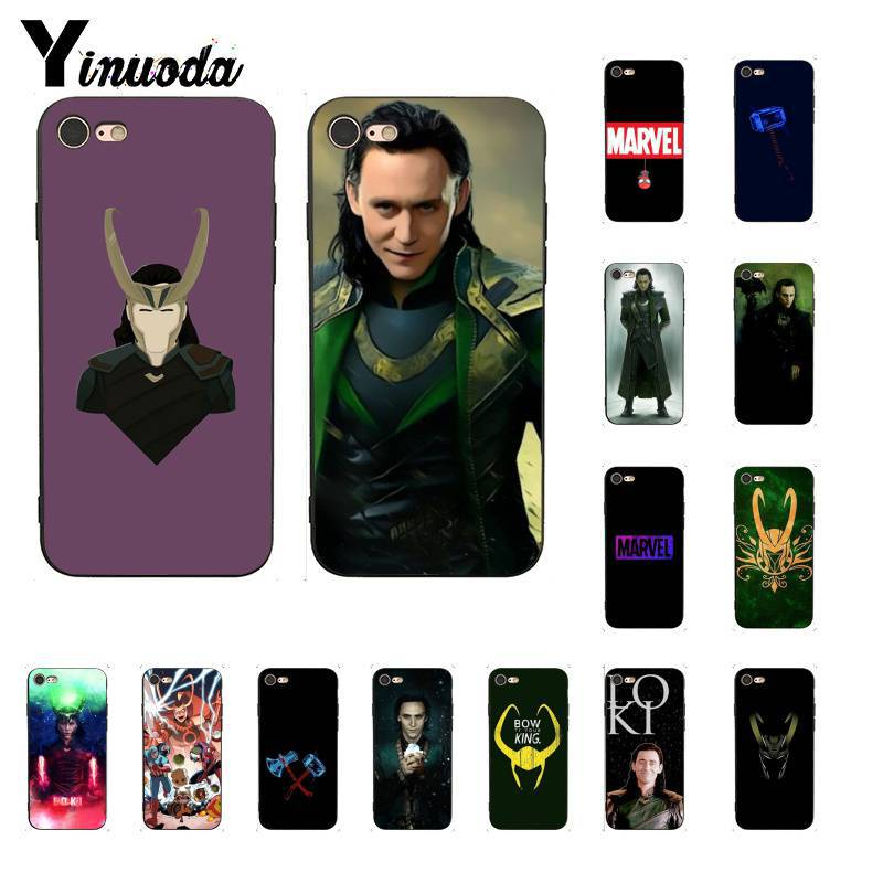 Yinuoda Marvel Hero Loki colorful cute TPU Soft Silicone Phone Case Cover for iPhone 6S 6plus 7 7plus 8 8Plus X Xs MAX 5 5S XR