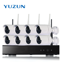 YUZUN  Home Security System Surveillance Kits 1MP HDMI DVR 8 Channel cctv camera set   indoor outdoor  waterproof IP66