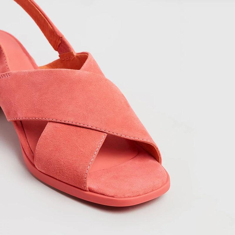 Slingbacks Pour Med Femme Élégant Mûr Mode Solide Talons Ty01 Cheville wrap 2019 Boucle Rouge Carrés Chaussures D'âge rRgwqr