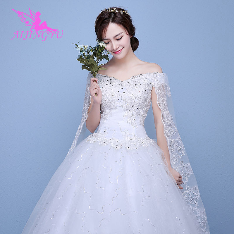 AIJINGYU 2018 Custom Made Free Shipping New Hot Selling Cheap Ball Gown Lace Up Back Formal Bride Dresses Wedding Dress WK737