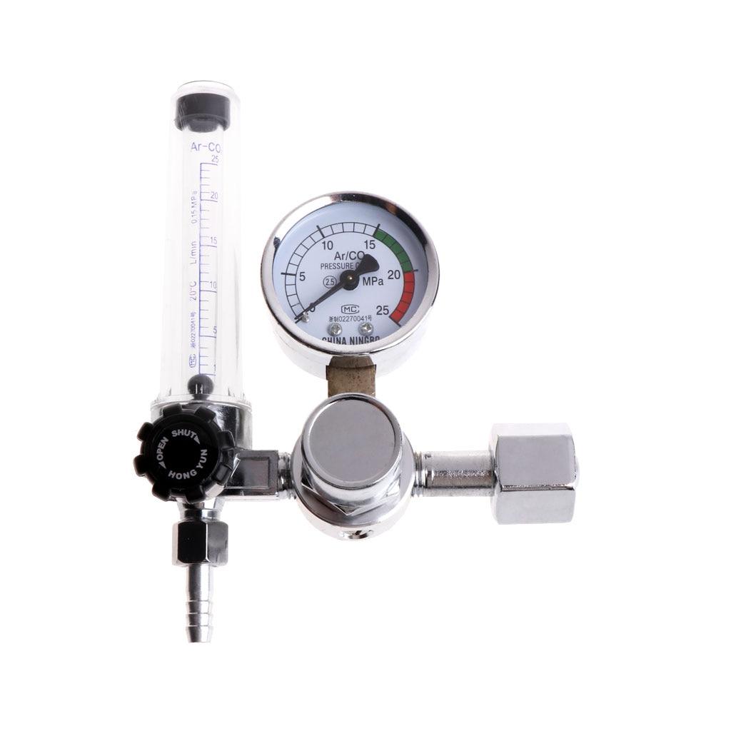 0-25Mpa CO2 Mig Tig Argon Regulador Regulador de Medidor De Fluxo De Gás Fluxômetro Medidor de Pressão Regulador de Argônio Soldagem Solda Redutor
