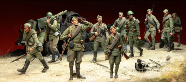 tuskmodel 1 35 scale resin model figures kits soviet soldiers 7
