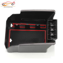 car central armrest box storage box car accessories styling for ford kuga 2013-2015 center console tray stowing tidying sticker