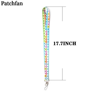 Image 2 - 20pcs/lot Patchfan Periodic table cool men lanyards for keys in mobile phone straps necklace card holders webbing ribbons A2076