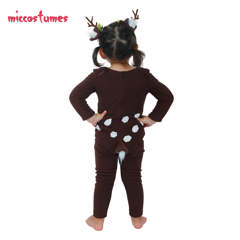 Image 5 - Child Deer Costume with Horns for Halloween-in Girls Costumes from Novelty & Special Use