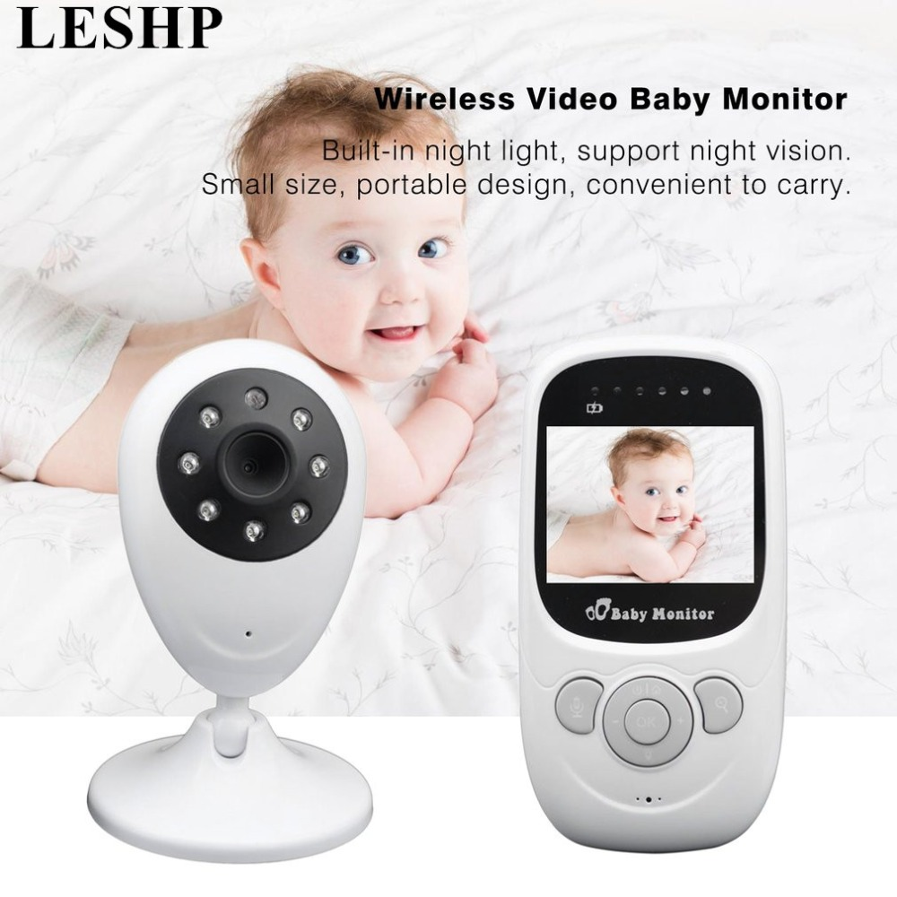 LESHP 2.4G Wireless wifi Baby Monitor With Camera 2.4 Inch LCD Radio Babysitter Video Camera Night Vision Temperature Display