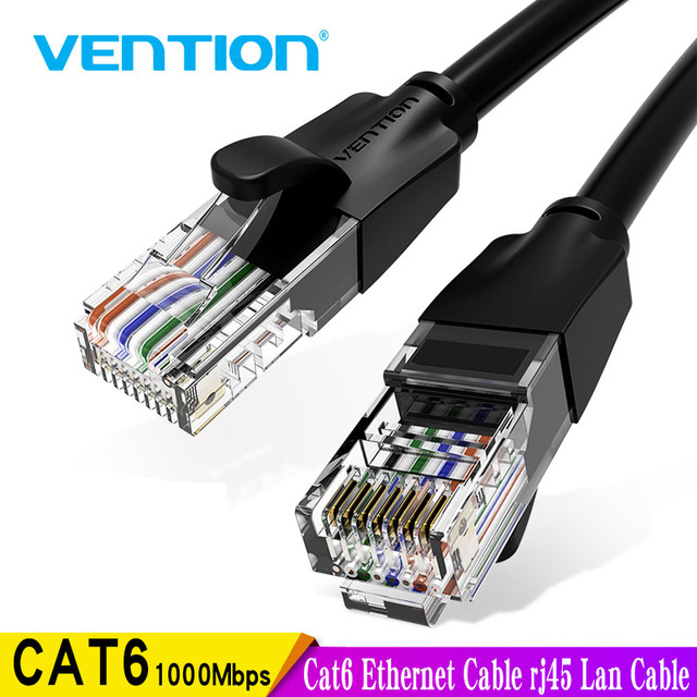 Vention Cat6 câble Ethernet rj45 Lan câble CAT 6 câble de raccordement réseau pour ordinateur portable routeur PC 0.5m 1.5m 2m 3m 5m RJ45 câble Ethernet