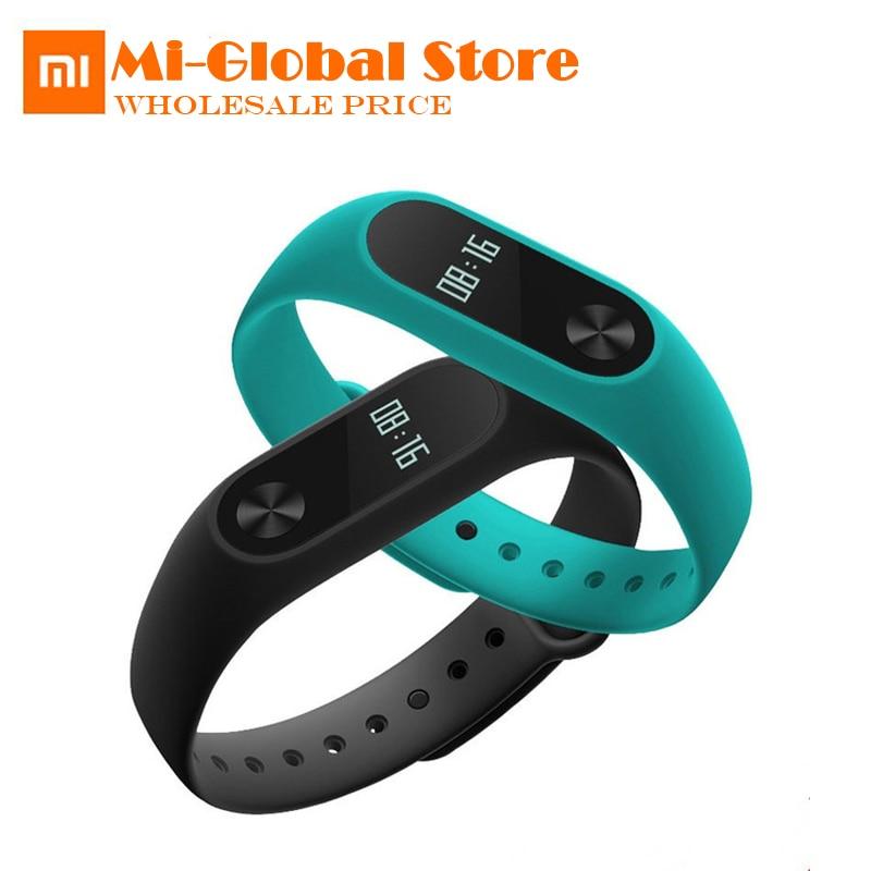 D'origine Xiaomi Mi Band 2 OLED Bracelet Intelligent Bracelet Moniteur De Fréquence Cardiaque Podomètre IP67 Fitness Tracker 20 Jours Batterie