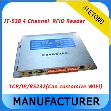 860 ~ 960 Mhz Impinj R2000 puce longue portée quatre canaux UHF RFID lecteur passif pour la gestion d'entrepôt