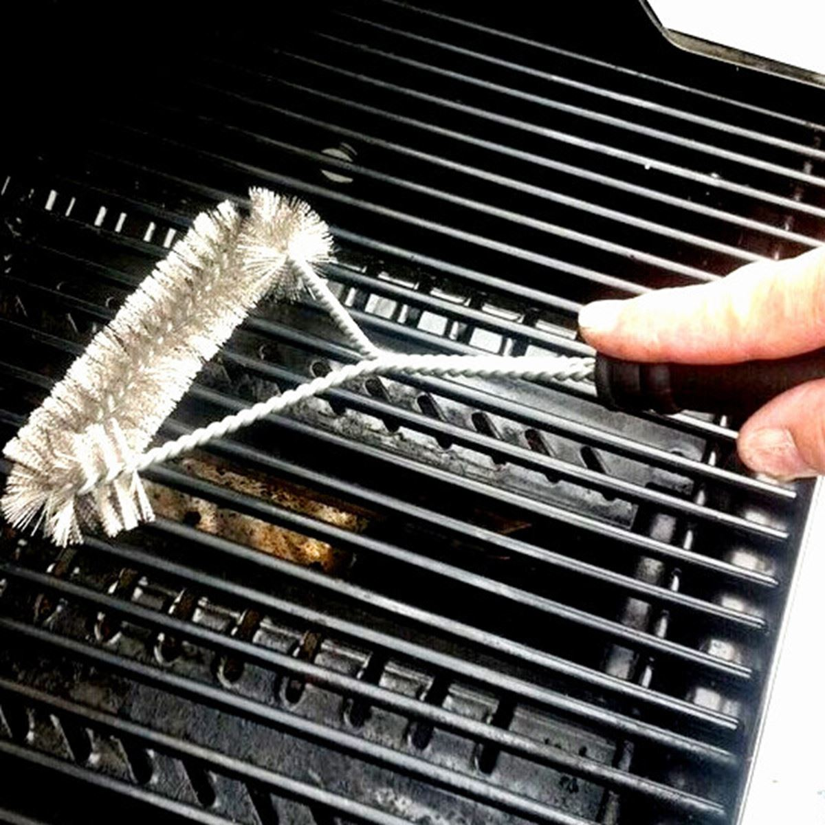 12inch Barbecue Grill BBQ Brush Stainless Steel Wire Bristles ...