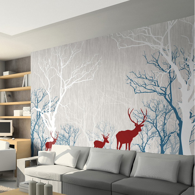 3D Stereo TV Background Wallpaper Movie Wall Mural Love European Simple Reduction Non Woven