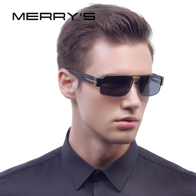 78ca0bba4a7d MERRY S Fashion Aluminum Polarized Sunglasses Men Classic Brand Sun glasses  EMI Defending Coating Lens Driving Shades S 8452
