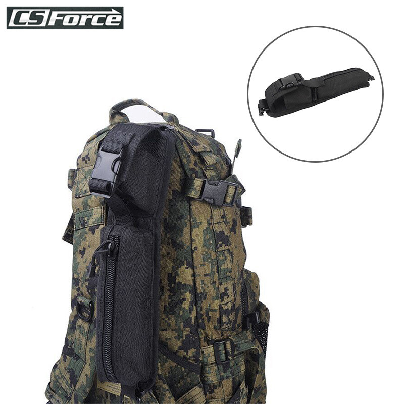 Tactical Molle EDC Tools Bag for Backpack Shoulder Strap Accessory Bag Key Flashlight Pouch Outdoor Camping Hiking Sundries Bag image
