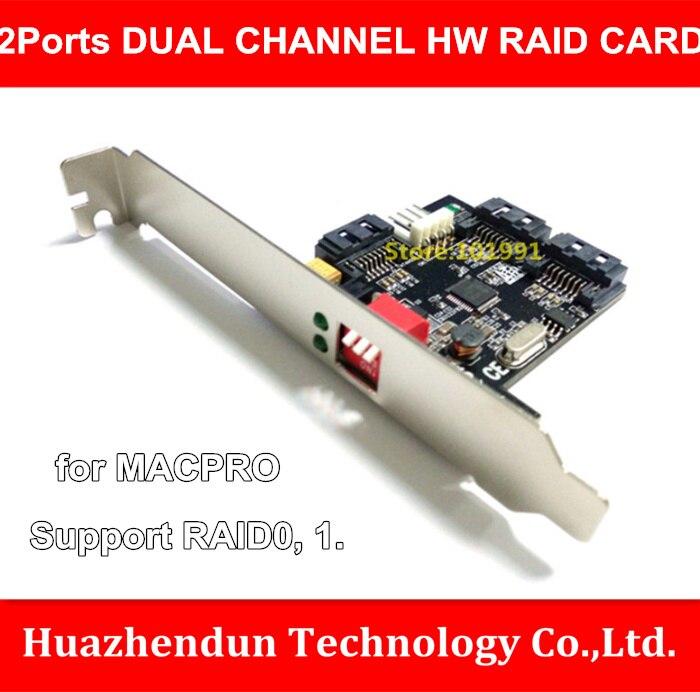 Новые поступления 2-Порты SATAII двойной канал HW RAID карты для Жесткий диск ускоряют Поддержка RAID 0,1. 0/1 ...