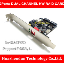 New Arrivals 2-Ports SATAII Double Channel HW Raid Card for Hard Disk Accelerate Support Raid 0,1. 0/1