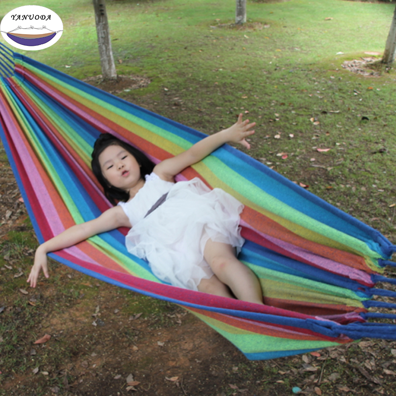 Sleeping Bags Portable Parachute Nylon Fabric Two Persons Hammock Hanging Sleeping Bed Parachute Nylon Fabric Outdoor Camping Hammocks