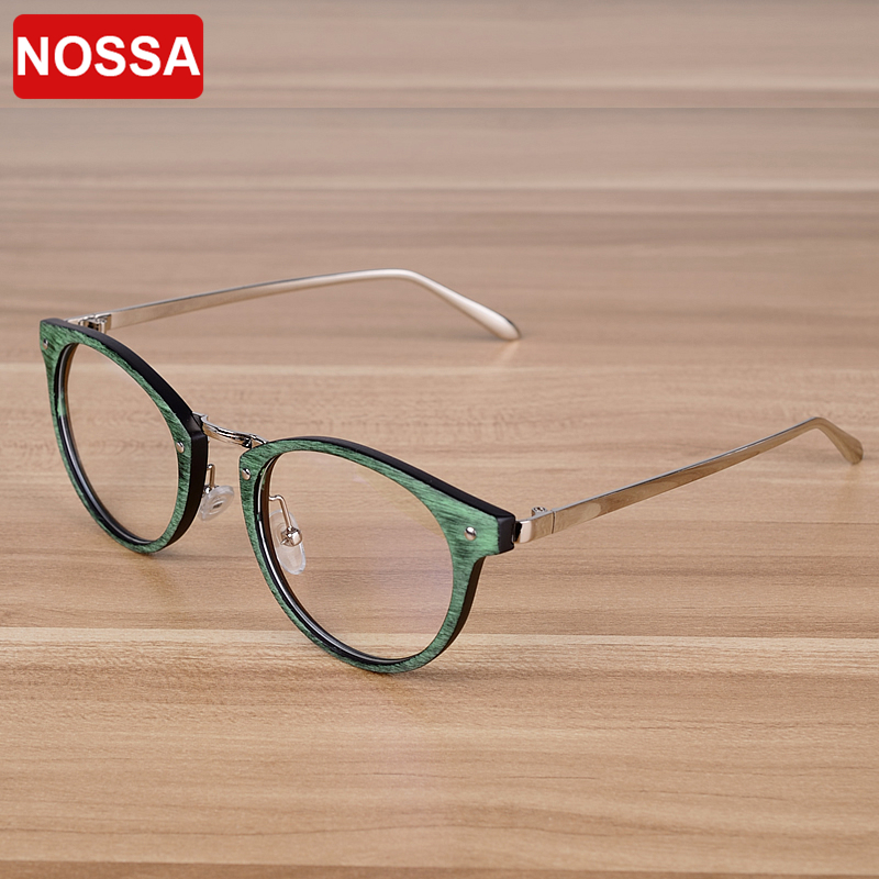 NOSSA Brand Vintage Points Briller Retro Women's Myopia Spectacle Frames Menns Prescription Eyewear Frame Mote Goggles