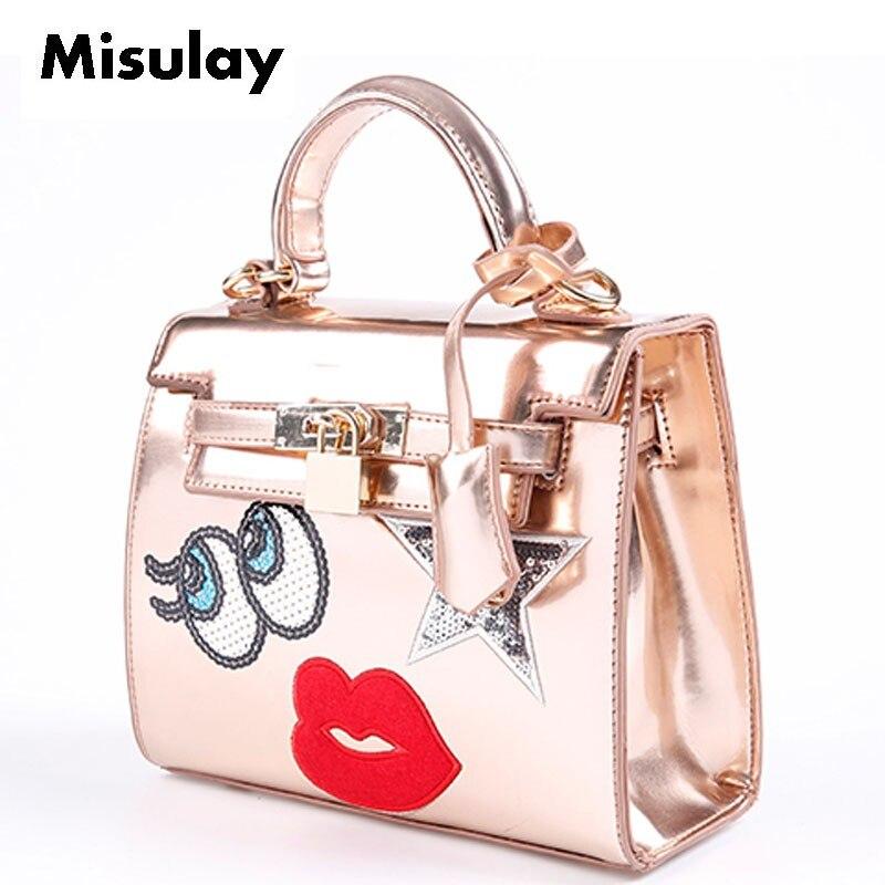 2016 New Korean style women handbag Star eyes and red lips shoulder bag fashion messenger bag single belt велотренажер inspire ic1