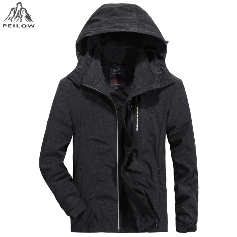 Plus Size 5XL 6XL 7XL L-8XL Men's Jackets and Coats 2019 Newest  Spring Autumn Men Hooded Casual Mesh Breathable Outwear Jacket
