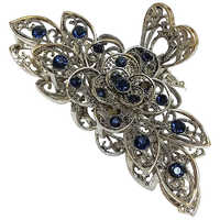 Alloy Vintage Hairpin Hairclips New Rhinestone Crystal Flower Hair Claws Clips ClampsHair Accessories Women