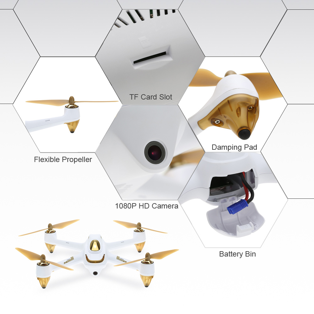 Hubsan H501S Pro X4 5.8G FPV Selfie Drone Brushless RC Drone with Camera 1080P 10 Channel Remote Control GPS RC Quadcopter (16)
