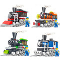 Original wange bloques tren compatible con lepin builiding ladrillos juguetes para niños