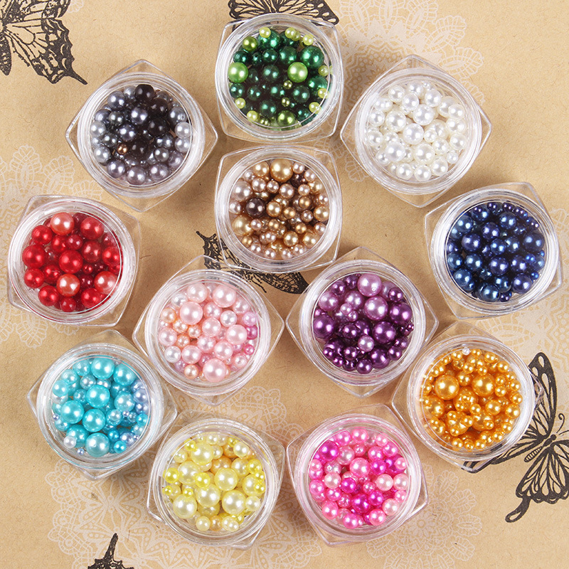 12jar Sale Beautiful Color Rhinestone Decoration Pearl for font b Nail b font font b art