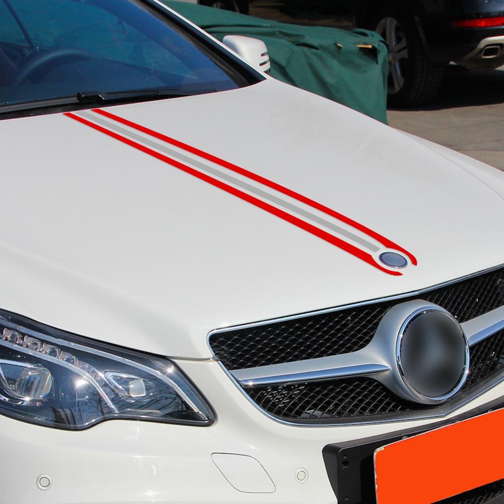 Автомобильный Стайлинг капот багажник полосы крышка двигателя наклейка Наклейка для Mercedes Benz A C CLA CLA45 GLA45 GLA W176 C117 W204 W205 AMG