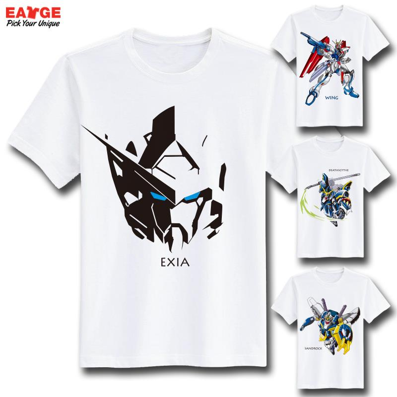 Exia Destiny Cool Fashion Style Novelty Tshirt Gundam T Shirt Design Inspired By Game Super Robot Wars T-shirt Men Printed Tee
