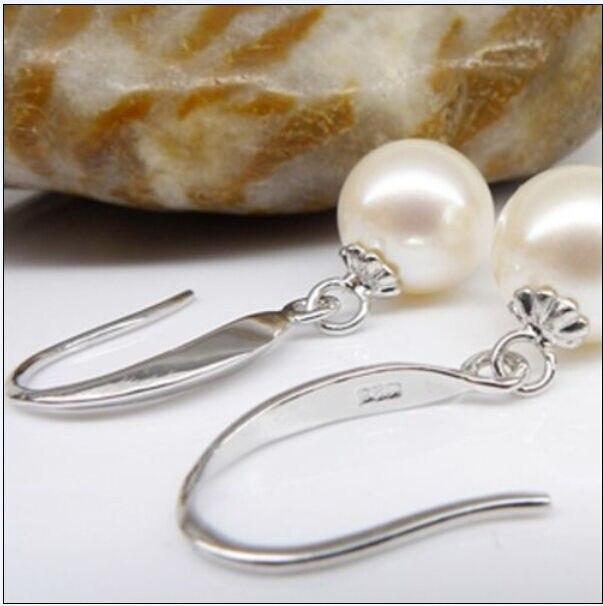 Véritable chaude AAA mer du sud véritable 10-11mm blanc perle boucle d'oreille 14 k