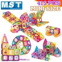 415PCS Mini Magnetic Building blocks Construction Set Magnet Models Plastic Magnetic Block Educational Toys For Kids Gift