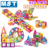 415PCS Mini Magnetic Building blocks Construction Set Magnet Models Plastic Magnetic Block Educational Toys For Kids Gift