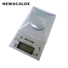 NEWACALOX Digital Scale 0.001g 50g Laboratory Electronic Balance Gold Bijoux Diamond Medical Precision Jewelry Scale