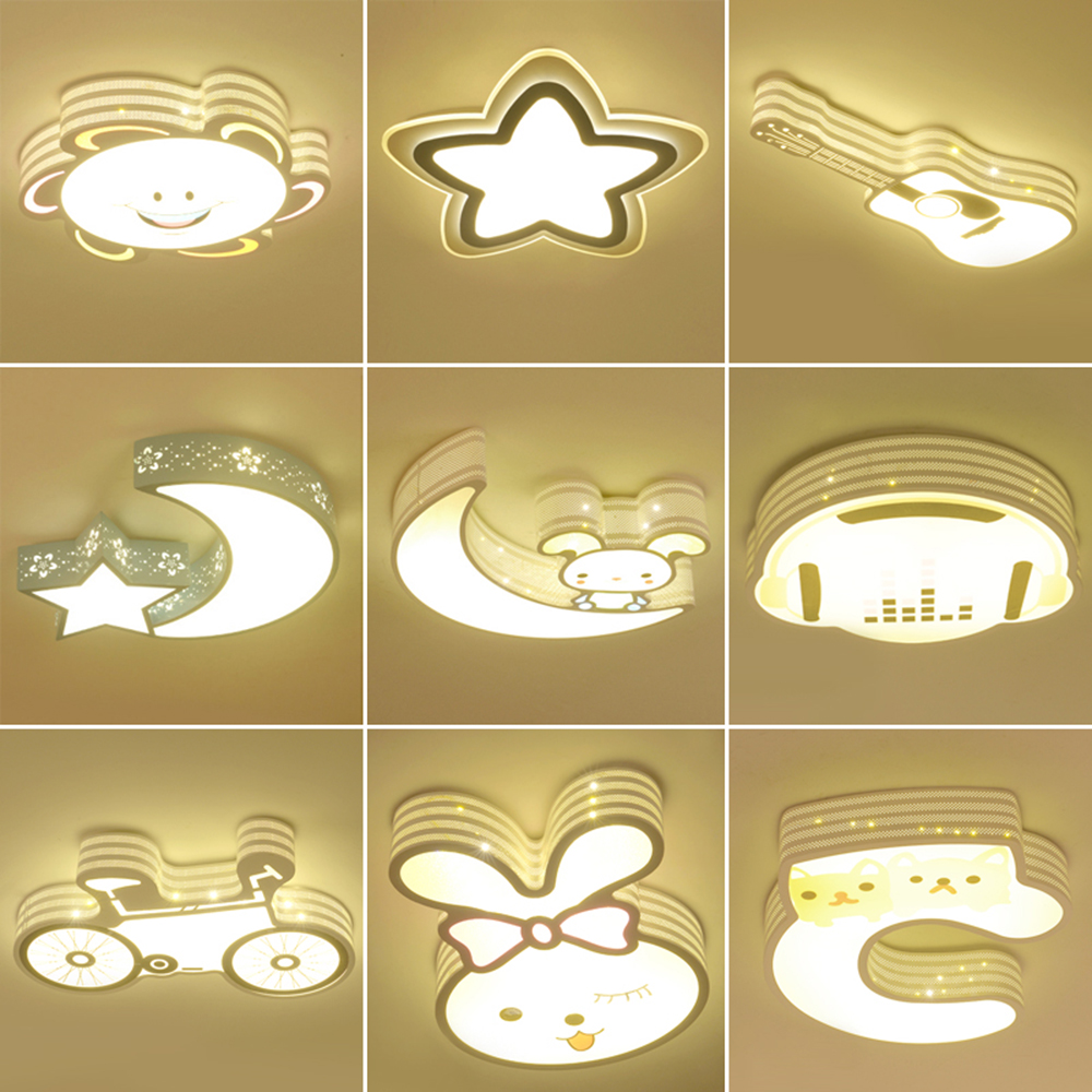 HGhomeart Children Bedroom Lighting Ceiling Lights 110~220v Bedroom Light Romantic Modern Lighting Led Ceiling Lustre Lamp