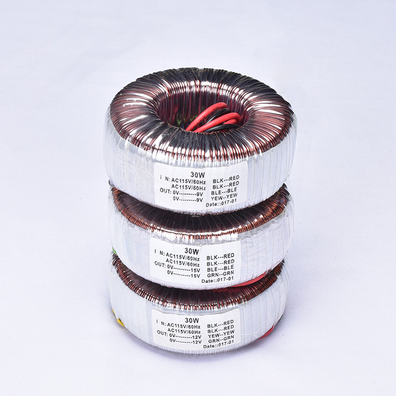 KYYSLB 30W Pure Copper Wire Ring Cattle Power Amplifier Transformer Double 15V Dual 12V Double 9V Three Specifications
