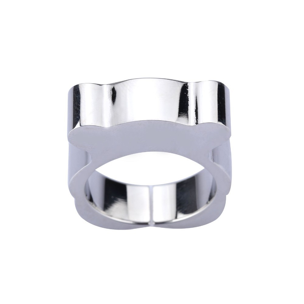 49bdbd6a115 Silver & Gold rings sortijas de mujer Cute Bear Ring Stainless Steel ...