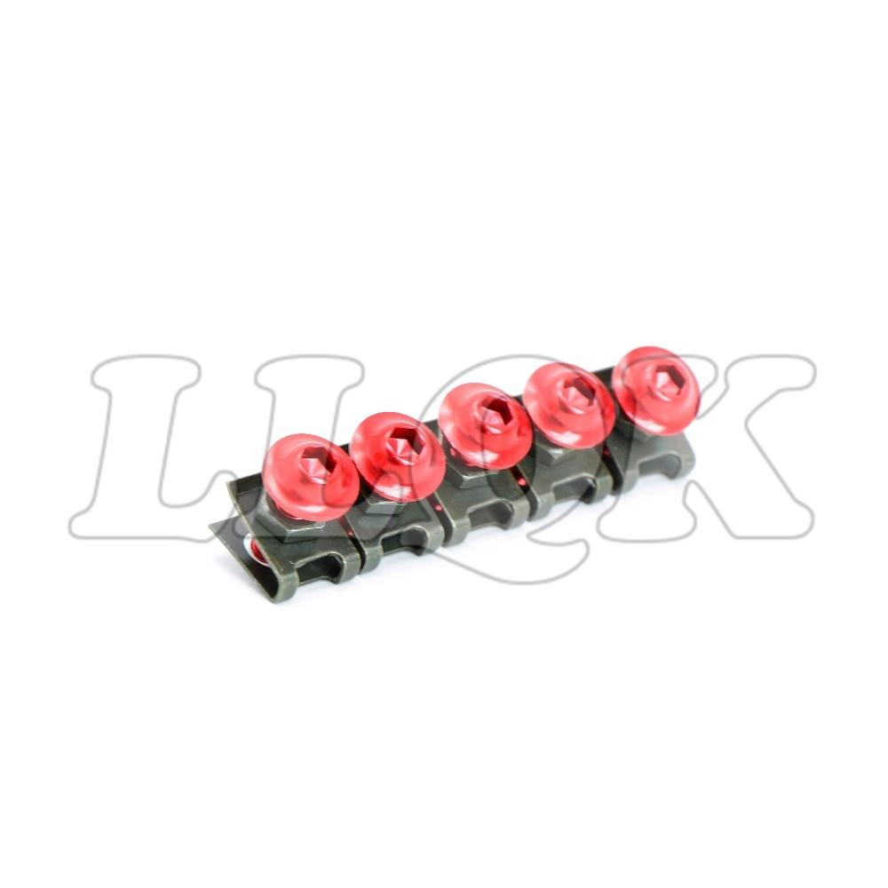 5pcs 6mm CNC Motorcycle Fairing body work Bolts Screws for Honda CBR250R CBR300R CB300F CBR500R ducati monster 1100 620 696 796