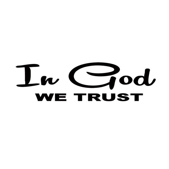 Car stying in god we trust christian religious religion jesus car window decal sticker jdm