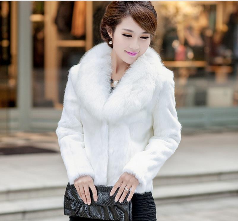 En De White Fausse 2019 Gratuite Imitation Veste M Vestes 3xl Manteaux Lapin Hiver Nouveau black Coréenne Fourrure Livraison Chaud Loutre vqUZU