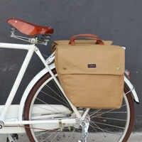 Tourbon Vintage rower torba rowerowa 23L Retro jazda na rowerze rower tylnym siedzeniu bagażnik tylny bagażnik dwa torby do przechowywania wodoodporne płótno