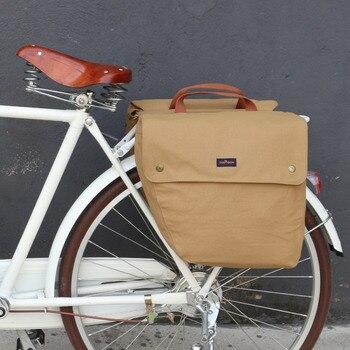Tourbon винтажная велосипедная сумка 23л Ретро велосипедная сумка на заднее сиденье задняя стойка багажник две сумки для хранения водонепрониц...