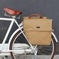 Tourbon Dell'annata Della Bicicletta Pannier Del Sacchetto 23L Retro Bicicletta Bici Posteriore Sedile Posteriore Rack Tronco Due Borse contenitore Impermeabile della Tela di Canapa