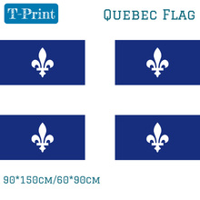 Free shipping 90x150cm 60x90cm 3x5FT Quebec Flag Activities Canadian Home Decoration