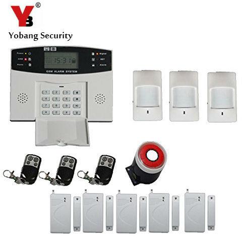 купить YoBang Security English Russian Spanish French LCD Display Home Burglar Safe Wireless GSM Alarm System With Keyboard+ PIR Sensor недорого