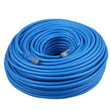 Плоский CAT6 Ethernet 100 м/1000 Мбит/с патч-кабель сети RJ45 плат в оптом 5 м до 50 м Длина: 50 м Cat6